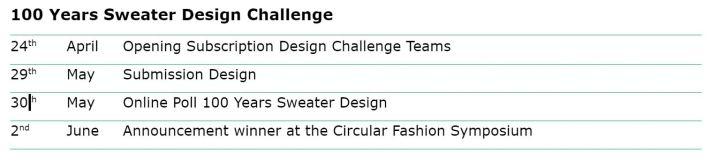 Sweater schedule